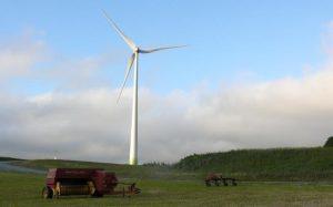 wind turbine hillside boulardarie - glen murrant