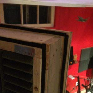 photo of vocal booth door
