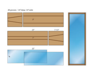 exploded diagram of vocal booth window
